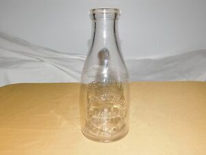 VINTAGE-9-1-2-034-STONE-039-S-DAIRY-SCOTIA-NY-1-QT-MILK-BOTTLE
