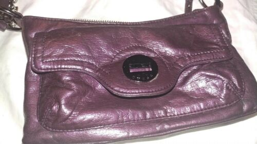 Edgy violet purple Guess purse