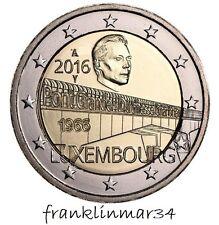 MONEDA CONMEMORATIVA DE 2 EUROS DE LUXEMBURGO 2016. 1 ª EMISION SIN CIRCULAR.