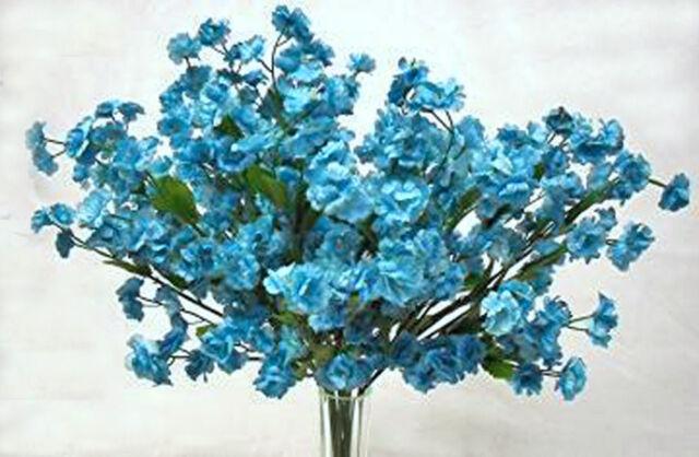 12 Baby's Breath ~ TURQUOISE TEAL ~ Gypsophila Silk Wedding Flowers Centerpieces
