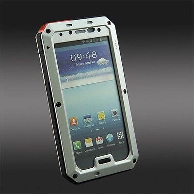 For Samsung Galaxy S3 S4  Waterproof ShockproofAluminum Gorilla Glass Metal Case