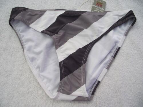 BNWT Ladies Smart Grey//White Stripe Bikini Swim Pants Sizes 10 12 14 and 16