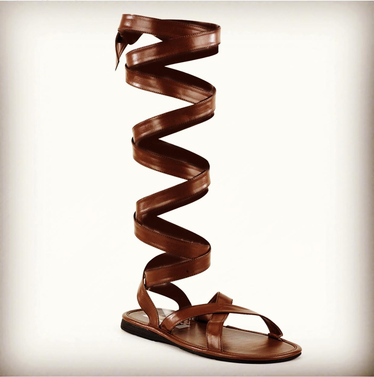 Brown Greek God Jesus Passion Play Easter Renaissance Fair Sandals Shoes Mens
