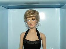 Franklin Mint Princess Diana Vinyl Doll Wearing The Black Velvet Gown Sealed COA