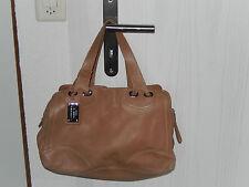 Codello cuero bolso bolso de mano apenas marrón claro usado