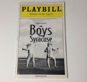 Playbill-The-Boys-From-Syracuse-2002-American-Airlines-Theatre-Broadway-Theater
