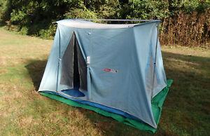 ... Coleman-Classic-Blue-10X8-Olympic-Springbar-Flexbow-Canvas- & Coleman Classic Blue 10X8 Olympic Springbar Flexbow Canvas Tent   eBay