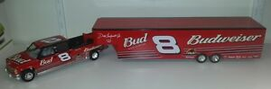 1-24-Action-Dale-Earnhardt-Jr-Budweiser-Show-Trailer-Chevy-Dually-w-Trailer
