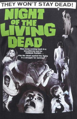 WOMENS LONG HOODIE DRESS NIGHT OF THE LIVING DEAD ZOMBIE B-MOVIE HORROR ROMERO
