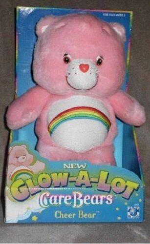 **RARE** NIB 2004 Edition 12 inch Plush Glow-A-Lot Cheer Care Bear