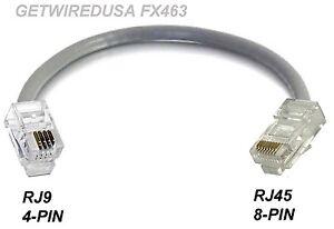 rj9 rj45 diagram rj9 rj10 22 4p4c 4-pin to rj45 cat5 ethernet 8-pin phone ...