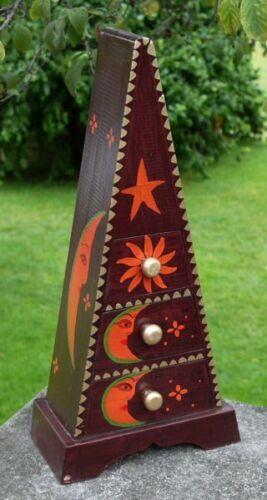 NEU Kinder Schränkchen Schatulle Dose Holz Pyramide 08