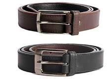 Faux Leather Black and Brown Belt