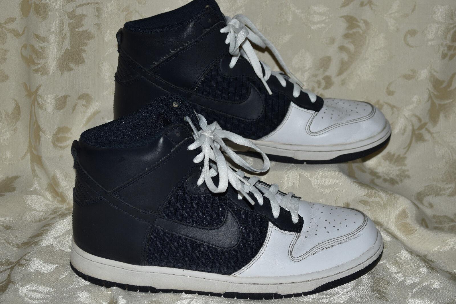 competitive price a5dd2 561a6 Nike Dunk High 317982-143 Mens 10 Basketball Basketball Basketball Shoes  Sneakers Woven Dark Obsidian