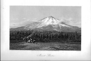 "1874 engraving ""Mt Shasta"""