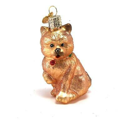Old World Christmas Cairn Terrier Dog Glass Ornament in ...
