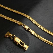 "STAMPED 18K GOLD FILLED  MENS/LADIES UNISEX XMAS GIFT CHAIN NECKLACE 20"" GT28"