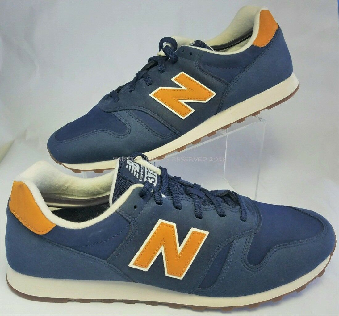 NEW BALANCE 373 ML373KGS Notre Dame bluee gold Athletic Running SHOES 14 Men's