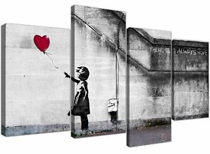 Extra-Large-Banksy-Canvas-Prints-Balloon-Girl-Hope-Wood-Framed-Ready-to-Hang