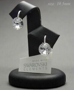 925-STERLING-SILVER-Earrings-Crystals-from-Swarovski-10-50-mm-RIVOLI-CRYSTAL