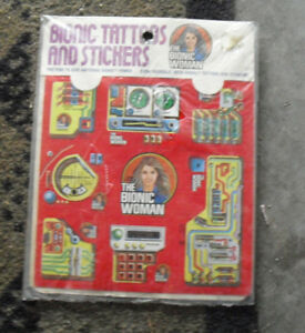 Vintage-1976-Kenner-Bionic-Woman-Tattoos-and-Stickers-Pack