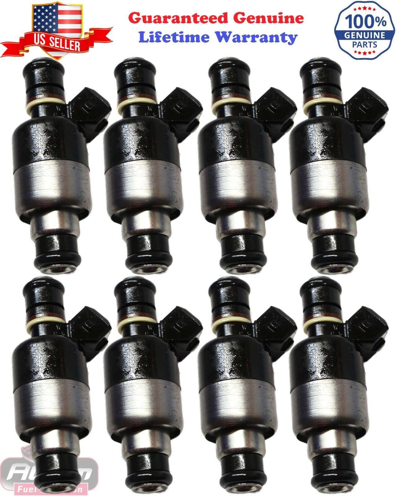 Set 8 Fuel Injectors For 1996-2000 Chevrolet C2500 C3500 K2500 K3500 7.4L 454 Vortec