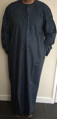 *NEW*Mens Emirati//Arab//Islamic Kaftan//Jubbah//Top//Kurti Petrol Green Cotton 60//62