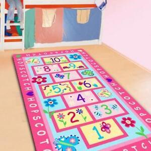 Hopscotch Kids Rug Area Mat Pink Girls Room Nursery Mat