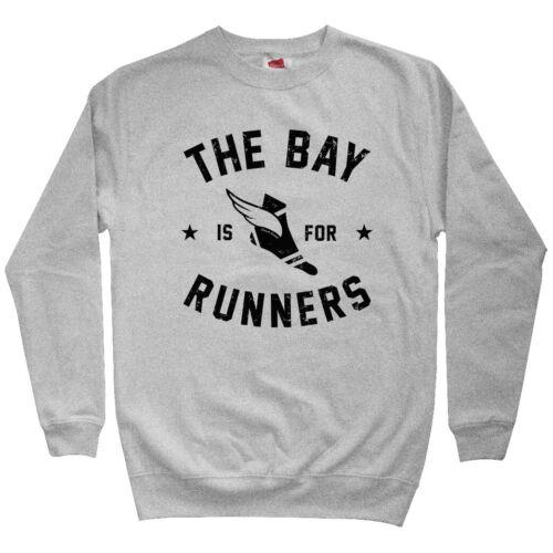 RUN BAY Running Crewneck S-3X The Bay Area is for Runners Men/'s Sweatshirt
