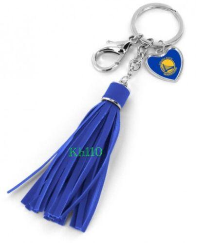 NBA Golden State Warriors Leather Tassel Key Chain Purse//Hand Bag Charm