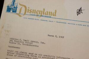 Disneyland-Walt-Disney-1965-Advertising-Blimp-Inquiry-Letter-Wm-Small-Agency-Inc