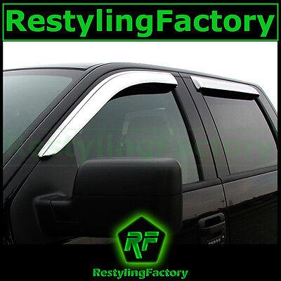 04-14 Ford F150 SuperCab Extended Cab Chrome 4 Door Window Visor Rain Sun Guard