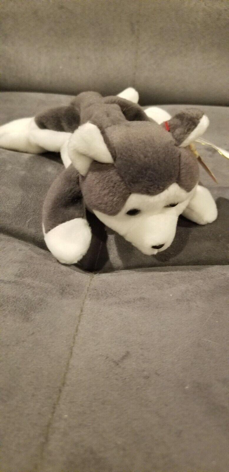 Ty Beanie Baby Nanook 1996 Wolf Retired - 4th Generation