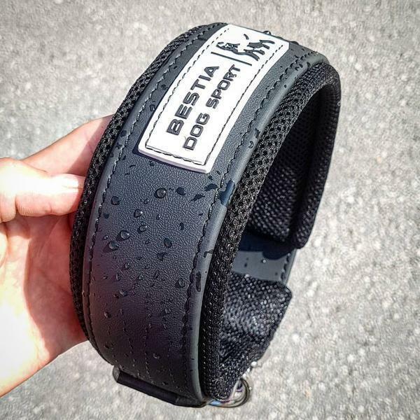Bestia dog sport collar. padded. waterproof. stainless steel. Beste quality.