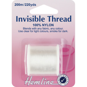 Hemline-200m-Invisible-Thread-Clear-100-Nylon-Sewing