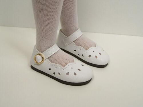 "WHITE Scallops Doll Shoes For 14/"" Kish Chrysalis Lark Song Piper Raven Debs"