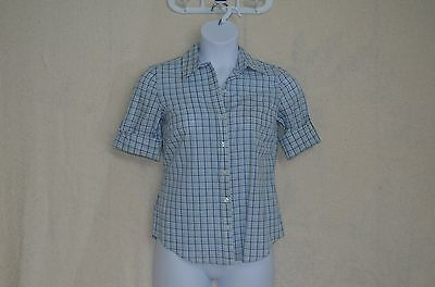 NWT Izod Cotton Plaid Long Sleeve Shirt (Pink, Blue or Green)Size S. Retail $45.