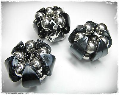 3 Clip Schalclip Blau/silber/schwarz Tuchclip Schalhalter Tuchhalter Mangelware
