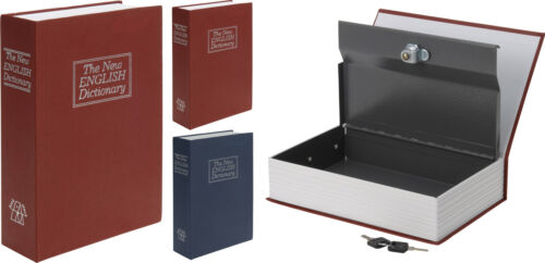 Book Safe Jewellery Cash Box for Home or Office - English Dictionary Style Cover
