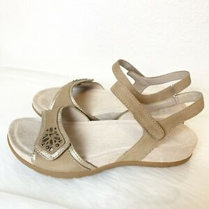 Dansko Womens Shoes Blhyte Sand Leather Sandals Size 37 Ebay