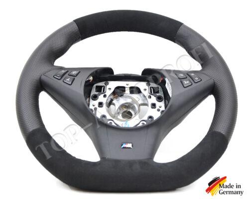 BMW E60 E61 E63 E64 M Sport Lenkrad Neu beziehe mit Alcantara Performance Flach