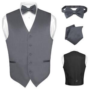 Men/'s Dress Vest BOWTie Hanky EMERALD GREEN Color Bow Tie Set for Suit or Tuxedo
