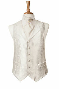 MENS-NEW-IVORY-WEDDING-DRESS-WAISTCOAT-DOUBLE-BREASTED-STYLE-LAPEL-WAIST-COAT
