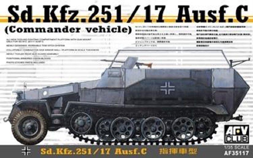 AFV CLUB GERMAN SD KFZ.251 17 AUSF C WWII Scala 1 35 Cod.35117