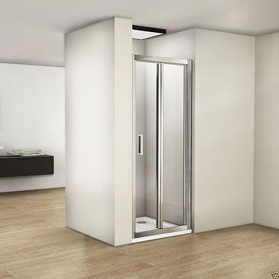 Easyclean Bifold shower door enclosure glass screen 760/800/900x1950mm