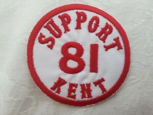 SUPPORT-81-KENT-HELLS-ANGELS-ENGLAND-Large-Sew-On-Patch-BIG-RED-MACHINE-81
