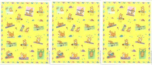 3 Sheets Adorable Playful Cat Kitten scrapbook Stickers