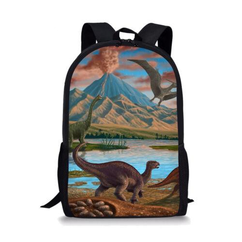 Dinosaur Backpack School Bags Kids Lunchbox Pencil Bag Teenagers Laptop Rucksack