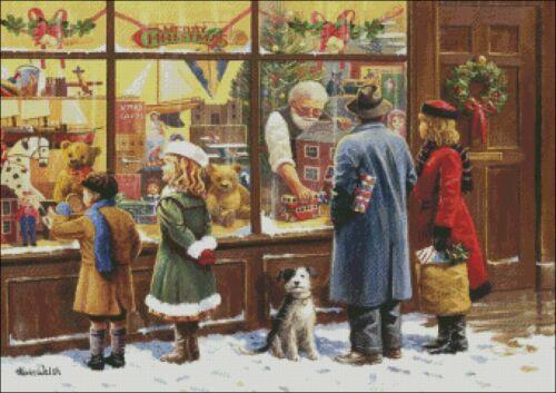 The Christmas Window Chart DIY Counted Cross Stitch Patterns Needlework