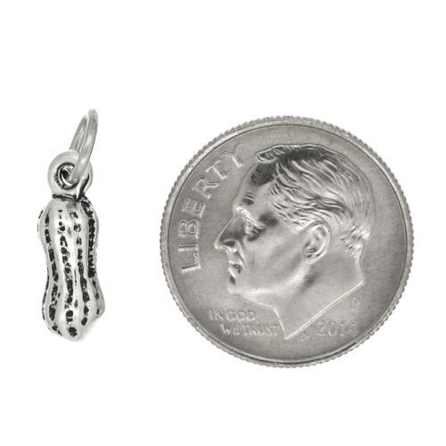 Sterling Silver Petite Arachide ARACHIDE PEANUT CHARM ou PENDENTIF